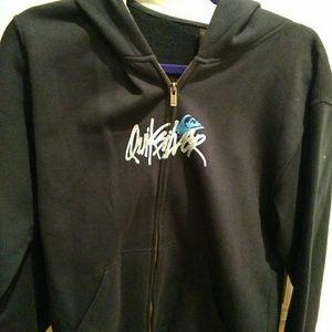 Boys Quicksilver zip up hoodie sweatshirt jacket